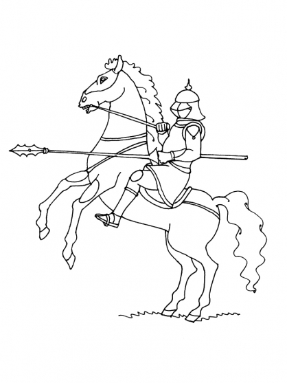 Coloriage chevalier 11 coloriage chevaliers coloriage personnages - Chevalier dessin ...