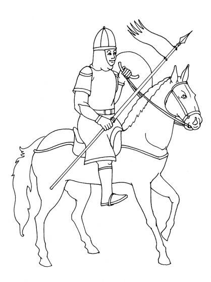 Coloriage chevalier 4 coloriage chevaliers coloriage personnages - Chevalier dessin ...
