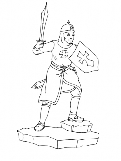 Coloriage chevalier 6 coloriage chevaliers coloriage personnages - Chevalier dessin ...