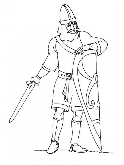 Coloriage Chevalier 9