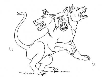 Dessin centaure a colorier bed mattress sale - Dessin tete de chien ...