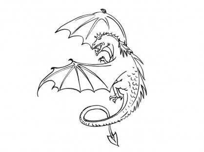 Coloriage Dragon 1