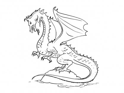Coloriage Dragon 11