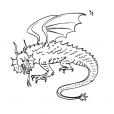 Coloriage Dragon 12