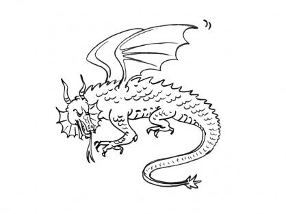 Coloriage Dragon 12