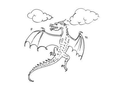 Coloriage Dragon 13
