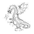 Coloriage Dragon 14