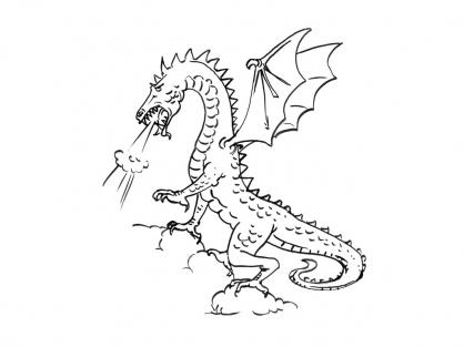 Coloriage Dragon 14