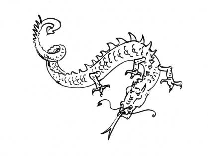 Coloriage Dragon 15