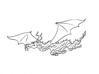 Coloriage dragon 2 coloriage dragons coloriage personnages - Coloriage dragon 2 ...