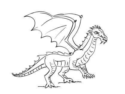 Coloriage Dragon 3