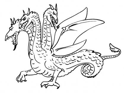 Coloriage Dragon 4