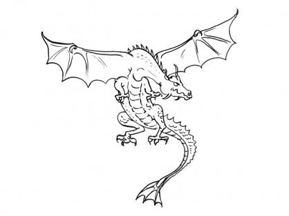 Coloriage Dragon 5