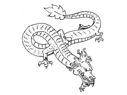 Coloriage Dragon 6