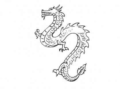 Coloriage Dragon 7