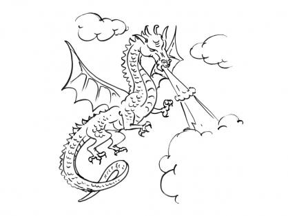 Coloriage Dragon 8