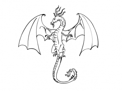 Coloriage Dragon 9