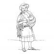 Coloriage Petite fille Inca 1