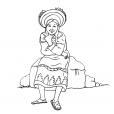 Coloriage Petite fille Inca 11