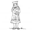 Coloriage Petite fille Inca 12