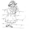 Coloriage Petite fille Inca 14