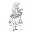 Coloriage Petite fille Inca 2