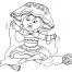 Coloriage Petite fille Inca 22