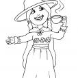Coloriage Petite fille Inca 25