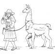 Coloriage Petite fille Inca 5