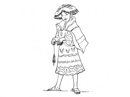 Coloriage Petite fille Inca 7