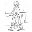 Coloriage Petite fille Inca 8