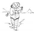 Coloriage Petite fille inuit 14