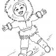 Coloriage Petite fille inuit 18