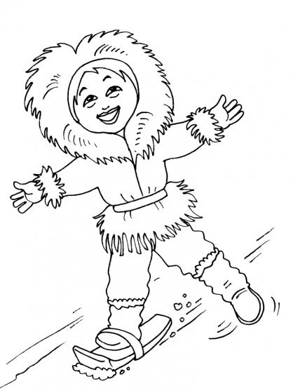 Coloriage petite fille inuit 18 coloriage enfants filles - Coloriage personnage fille ...