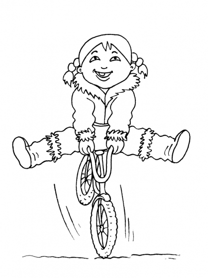 Coloriage Petite fille inuit 19