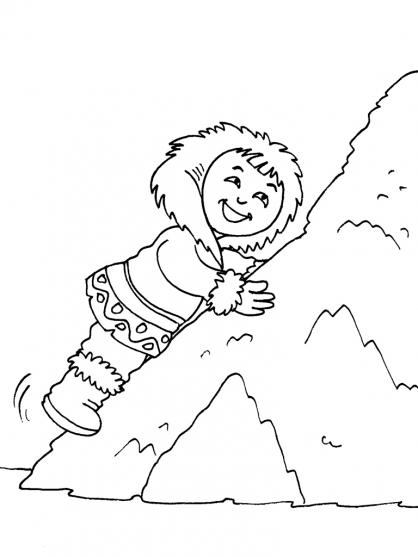 Coloriage Petite fille inuit 22