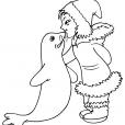 Coloriage Petite fille inuit 23