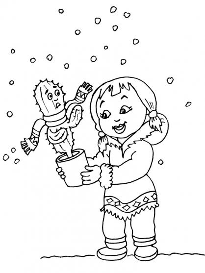 Coloriage petite fille inuit 25 coloriage enfants filles - Coloriage personnage fille ...