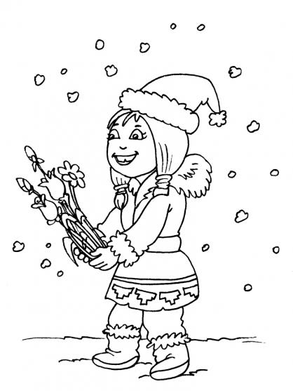 Coloriage petite fille inuit 26 coloriage enfants filles - Coloriage personnage fille ...