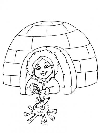 Coloriage Petite fille inuit 27