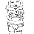 Coloriage Petite fille inuit 28