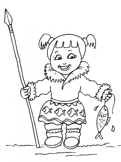 Coloriage petite fille inuit 29 coloriage enfants filles - Coloriage personnage fille ...