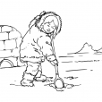 Coloriage Petite fille inuit 3