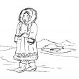Coloriage Petite fille inuit 5