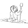 Coloriage Petite fille inuit 9