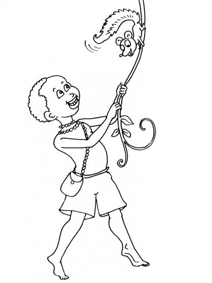 Coloriage petit africain 19 coloriage enfants gar ons - Dessin petit garcon ...