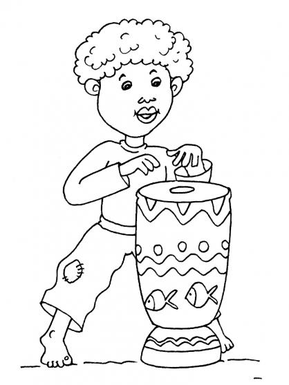 Coloriage petit africain 21 coloriage enfants gar ons - Coloriage enfant garcon ...