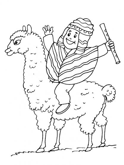 free inca coloring pages - photo#4