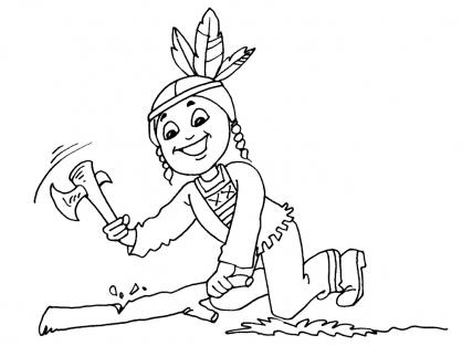 Coloriage petit indien 16 coloriage enfants gar ons indien coloriage personnages - Coloriage petit indien imprimer ...