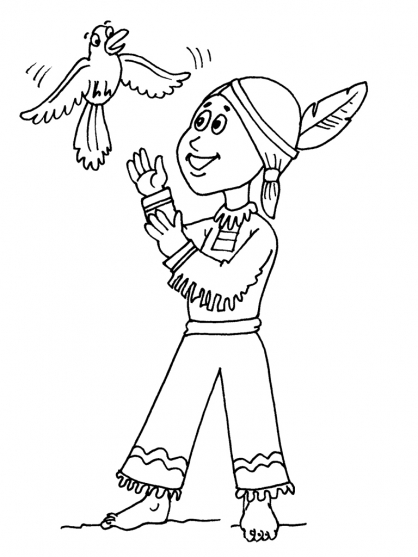 Coloriage Petit indien 17